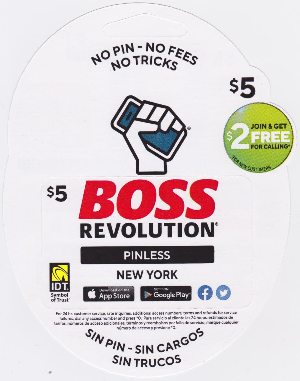Boss New Revolution $5